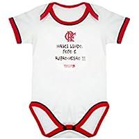 Rêve D'or Sport - Body Nasci Lindo Flamengo Unissex, G, Branco/Vermelho/Preto