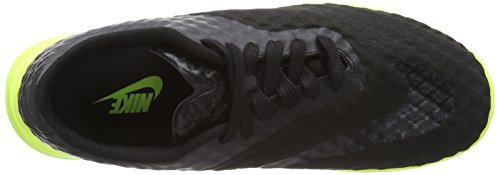 Nike Free Hypervenom Low, Sneakers da Uomo Nero (Black/Black-volt 001)