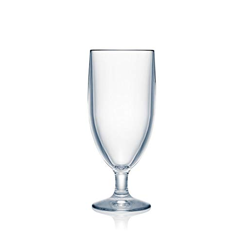 Strahl Design+ Contemporary Water Soda Goblets, 14-Ounce, Set of - Goblet Low Water