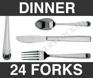 WHOLESALE - 2 DOZEN DOMINION DINNER FORK by overstockedkitchen