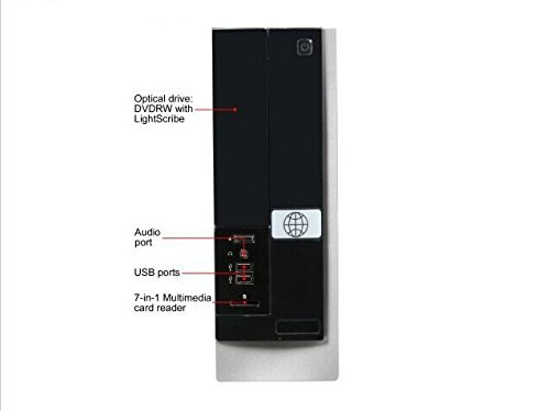 HP Slimline Desktop (AMD A4-5000 Quad Core Processor, 4GB DDR3 RAM, 1TB HDD, Windows 8 Professional) (Certified Refurbished)