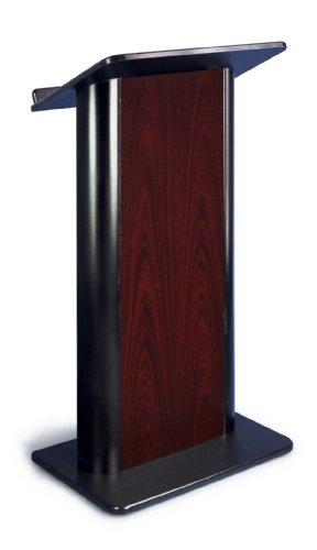 Jewel Mahogany Contemporary Lectern with Black Anodized Aluminum