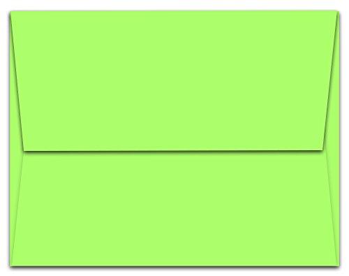 "100 Key Lime A6 Envelopes - 6.5"" x 4.75"" - Square Flap"