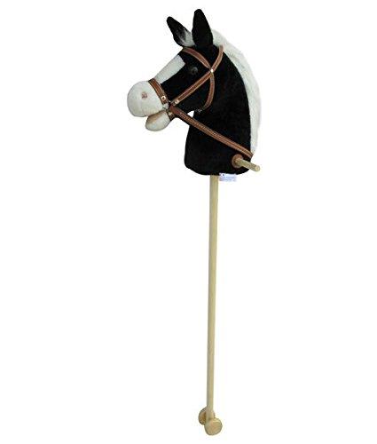 Caballito de Blacky Super de dulce, Sweety de Toys, color negro con blanco crin–Muy inoxidable de con función. Oído Drücken, Galope y Caballos gewieher erklingt, tamaño aprox. 100cm Top calidad con asas y ruedas de madera Sweety-Toys 5093