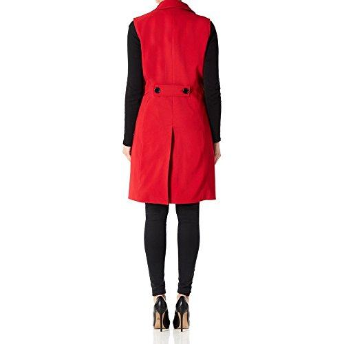 Larga Chaleco Mujer La Waistcoat De 14 Creme Primavera Rojo Talla Ft0gqFXnw