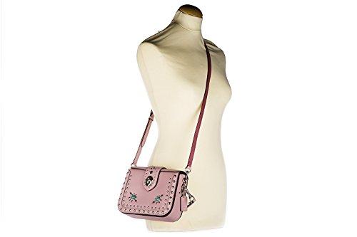 Coach Umhängetasche Damen Tasche Schultertasche Messenger Leder western rosa
