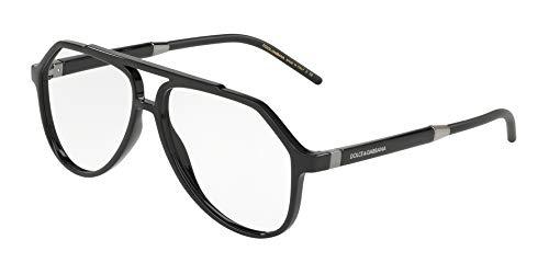 (Dolce & Gabbana Men's Eyeglasses D&G DG5038 DG/5038 501 Black Optical Frame)