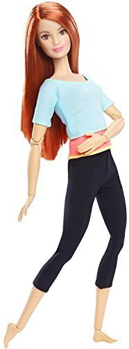 Barbie® Made to Move Barbie Doll, Blue Top - 7