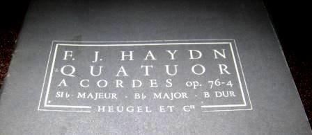 F.J. Haydn String Quartet in Bb Major Op.76-4 Heugel No.110 Pocket Score