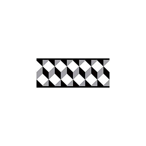 - York Wallcoverings Portfolio II Escher Border Removable Wallpaper, Black/Gray