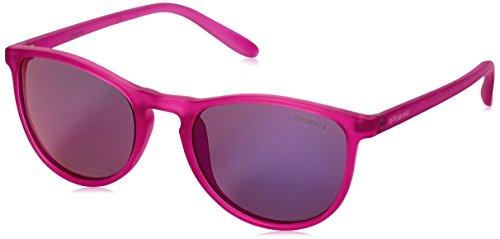 Polaroid Sunglasses PLD8016N Polarized Oval Sunglasses, Bright Pink/Brown Mirror Polarized, 48 - Kids Sunglasses Polaroid