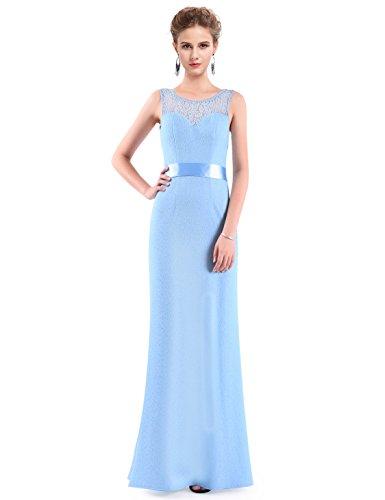 Ever-Pretty - Vestido - para mujer Bleu claire