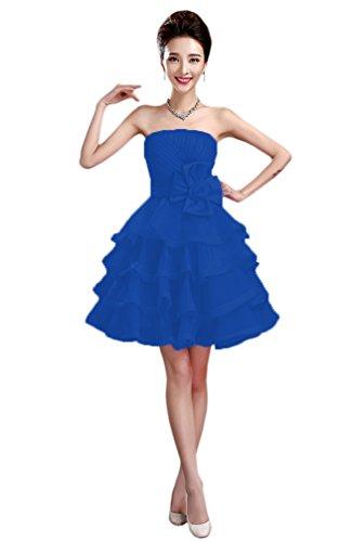 Mujer Vimans Para Cobalto Vestido Trapecio Azul FUZwZA