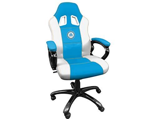Subsonic Siege Gaming baquet - Fauteuil Gamer Avec assise ergonomique - Chaise de Bureau et de jeu pivotante - OM Olympique de Marseille [Importacion Francesa]