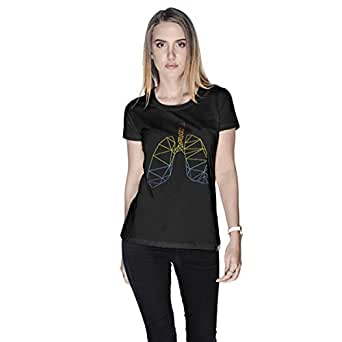 Creo Lungs Animal T-Shirt For Women - S, Black