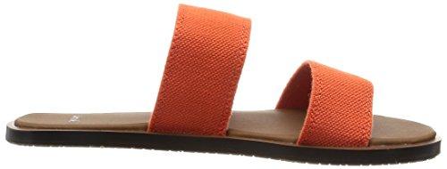 Sanuk - Sandalias de Piel para mujer Naranja naranja Naranja - Flame