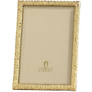 L'Objet Gold Plated Crystal Pave Frame 4 X 6