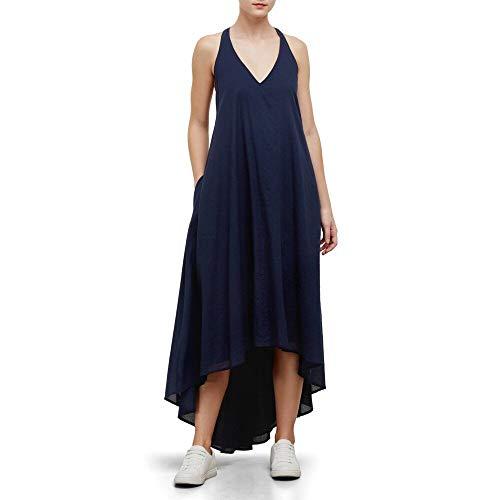 (Kenneth Cole Women's Racerback Twist Strap Dress, Indigo, S)