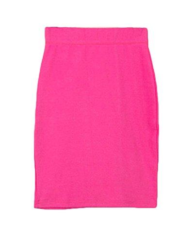 OL Rose Uni en Femme Crayon Elastique Bodycon Midi Taille Confortable Runyue Style Moulant Jupe Haute Casual Jupe 06pxtaAwq