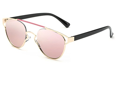 Konalla Reflective Coating Mirrored Lens Sunglasses One-Piece Frame Woman - For Eyeglass Face Heart Shape Best Shaped