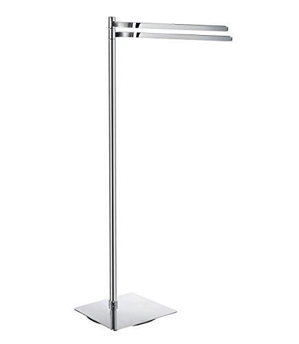 Smedbo FK325 Double Towel Rail Free Standing, Polished Chrome