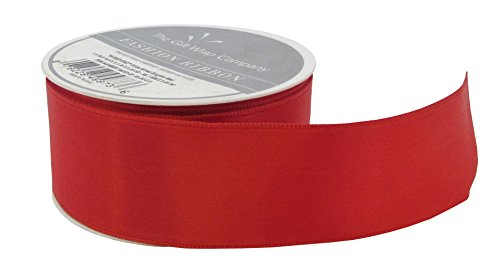 The Gift Wrap Company Wide Wired Bright Ribbon, Red by The Gift Wrap Company