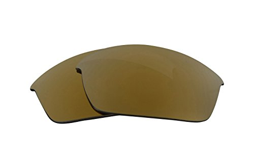 Replacement Lenses Compatible with OAKLEY FLAK JACKET Polarized 24K Gold Mirror