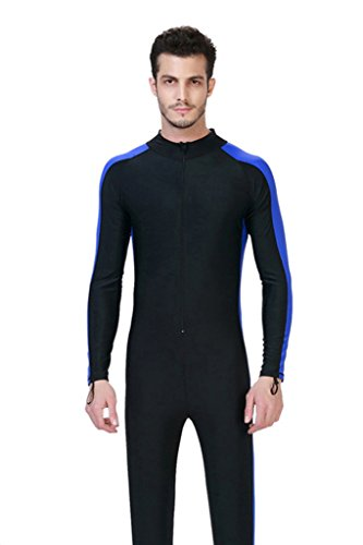 Long Sleeve One Piece Swimsuit UPF 50+ Rashguard Blue