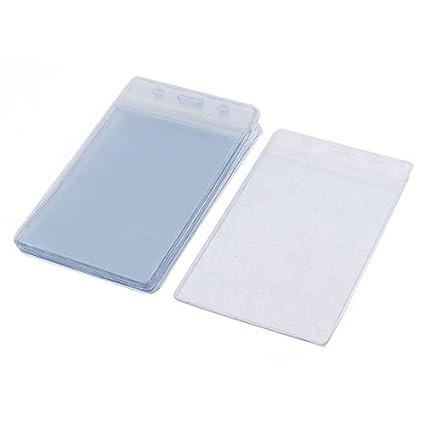 Amazon.com : Placa de plástico blando Vertical bolsillo ID ...