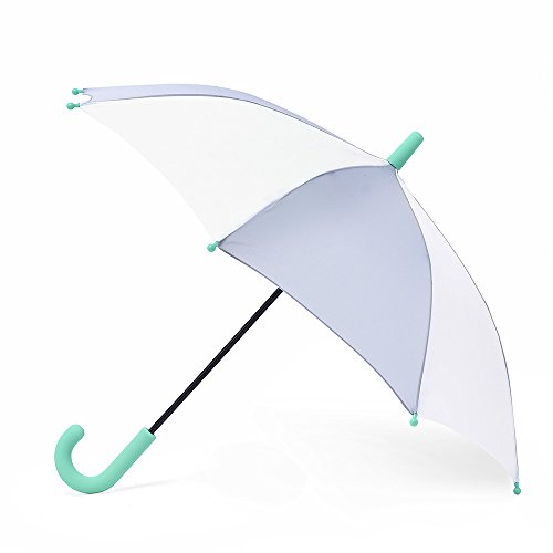 Hipsterkid Child Size Umbrella, in Grey and White.