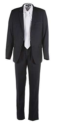 Tuxgear Boys Black Slim Fit Communion Suit With Religious Cross Dress Tie (Boys 16) by Tuxgear