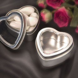 Heart Shaped Boxes/Mint Tins (Set of 100) - Wedding Party Favors