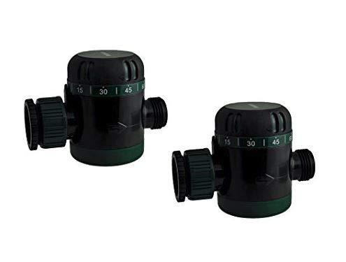 Instapark MWT-08 Outdoor Garden Hose End Automatic Shut-Off Mechanical Water Timer 2 Pack