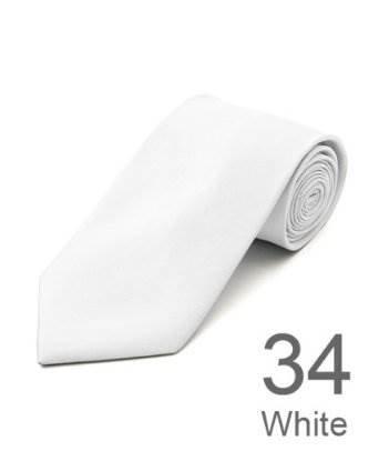 New Polyester Men's Neckties Solid Neck Tie 38 Colors