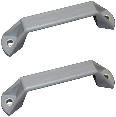 grau HBS KT 2 x Kunststofft/ürgriff zum Anschrauben mit Sechskantschrauben
