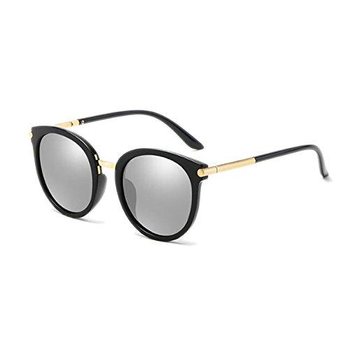 Gafas Gafas de polarizadas UVA Antideslumbrante Sol Coreanas Black Driving de UVB Moolo HD Face Outdoor Style Color Harajuku mercury frame Long Sol HLMMM Visual Mercury Retro Frame Black YTXZxq5n