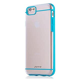 "iPhone 6S Plus / iPhone 6 Plus 5.5 Case - JOTO Slim Fit Hybrid Clear Cover Case (Flexible TPU + Hard PC) for Apple iPhone 6S Plus 5.5"" / iPhone 6 Plus 5.5"" (Blue, Frosty, Clear)"