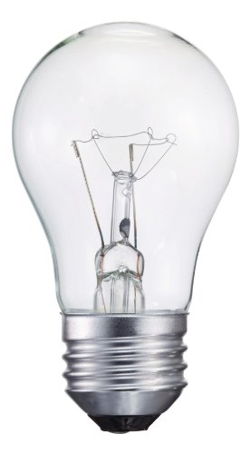 Clear Appliance Light Bulb (Philips 299990 Appliance Light Bulb, 40-Watt, A15 Glass Size, 1750 Hour Life, 1 Light Bulb)