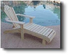 Adirondack Lounge Chair Woodworking Plans