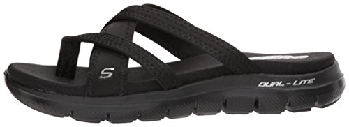 e129e219f21fa Skechers Cali Women's Flex Appeal 2.0-Start up Sport Sandal,black/black,9 M  US