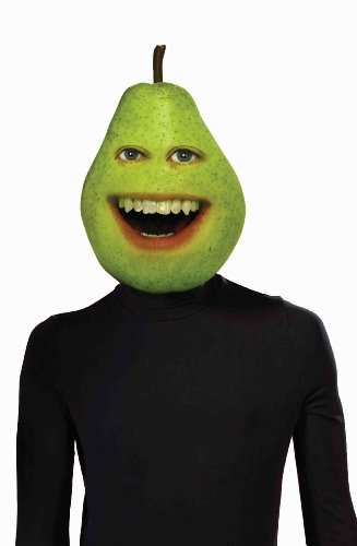 Forum Annoying Orange Pear Mask Latex Costume, Green, One (Pear Costumes For Adults)