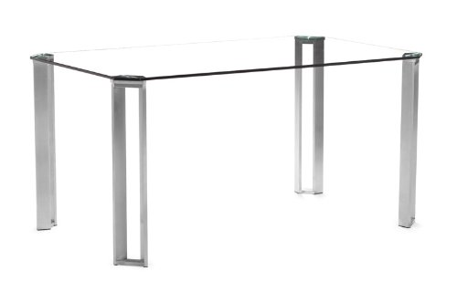 Obsolete - Zuo Plume Dining Table, Clear Glass