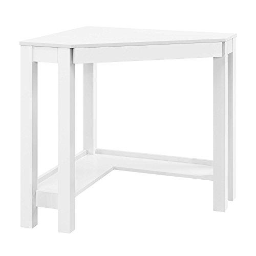 Altra Furniture Parsons Corner Desk, White (Makeup Console compare prices)