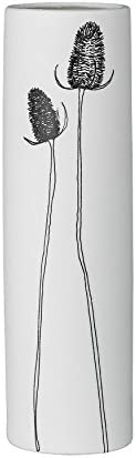 Bloomingville A27200059 White Ceramic Vase with Flowers