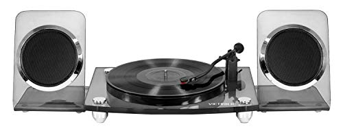 Victrola Modern Acrylic 2-Speed Bluetooth Turntable Record Player with 40-Watt Wireless Speakers, Smoke (Renewed) (Record Player Jukebox)