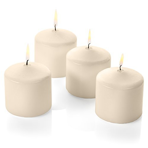 (Pillar Candles Event for Romantic Wedding Dinner Restaurant Made in USA (Ivory 3X3 12pc))