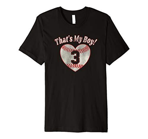 That's My Boy Jersey #3 Baseball Mom Gift Premium T-Shirt