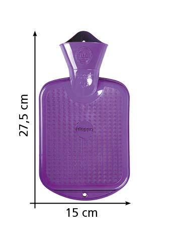 0,8 Liter W/ärmflasche mit Velourbezug Birdy orange