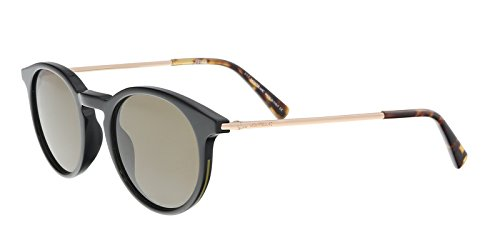 Mont Blanc - MB549S, Round, PLASTIC/FABRIC, men, BLACK GOLD/BROWN(05J), - Black Round Uk Sunglasses