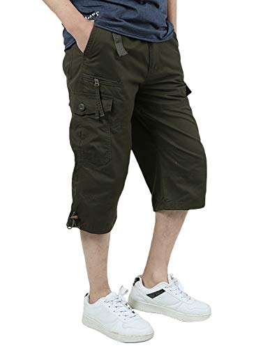 men shorts summer chino cargo 3 4